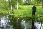 Mete –   Mete i Bissjöån i pastoral miljö