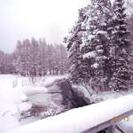 Vacker vintervy i snörik december 2013