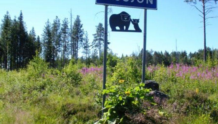Västra infarten – från Vallenhållet.