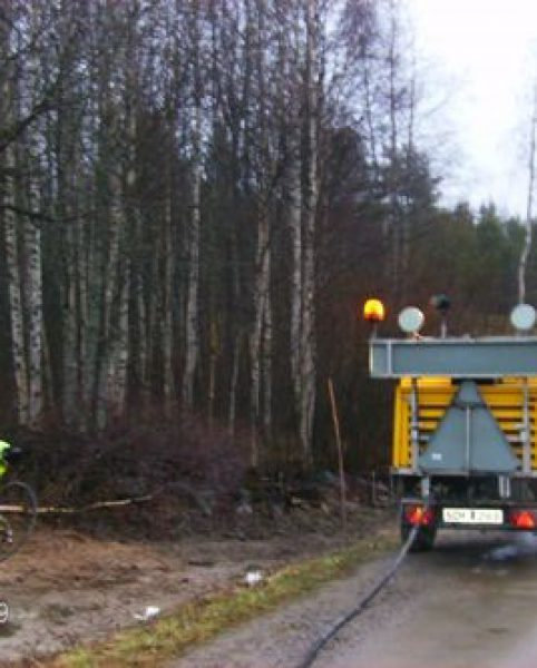 Den 29/10 blåser Bottnia IT fiberkabel från Träskbäcksbrunn