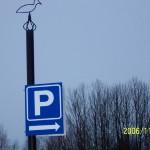 Parkering – Parkerar gör man vid älgslakteriet