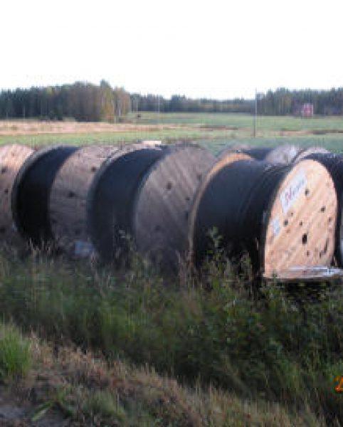 Skellefte Kraft markförlägger kraftledningarna under hösten 2009